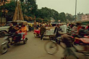 רחוב עמוס בדלהי - הודו